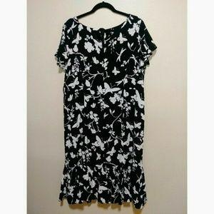 Talbots black & white dress